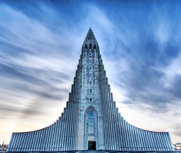 The Church of Hallgrímur (Reykjavík, Iceland): Architects, Unusual Building, Lava, Parish Church, Reykjavik Iceland, Front Entrance, Around The World, Lutheran Church, Construction