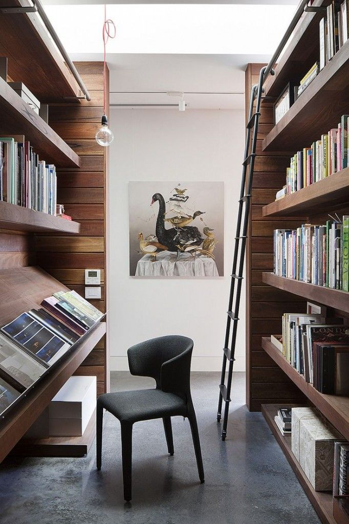 Two Parallel Shelves Creating The Illusion Of An