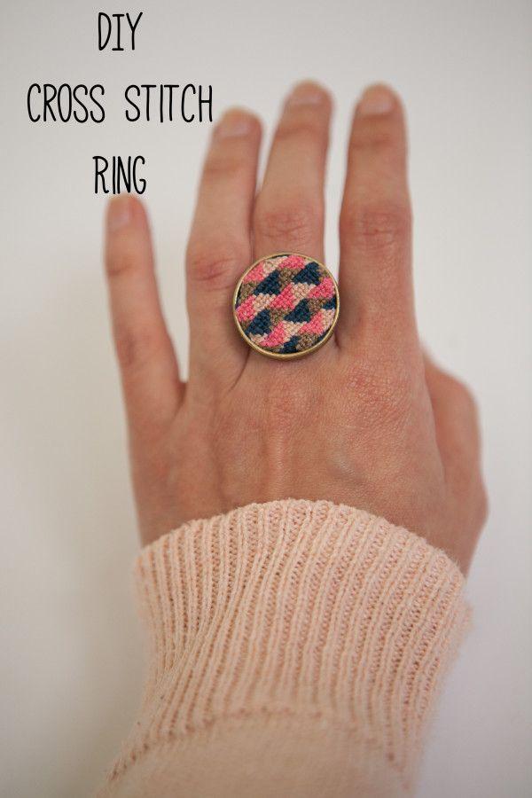DIY: Cross Stitch Ring- must try!