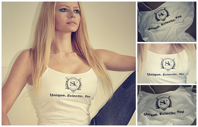 Get a model posing with your logo printed on a shirt for $5 only - Hire a web Model - www.hireawebmodel.com