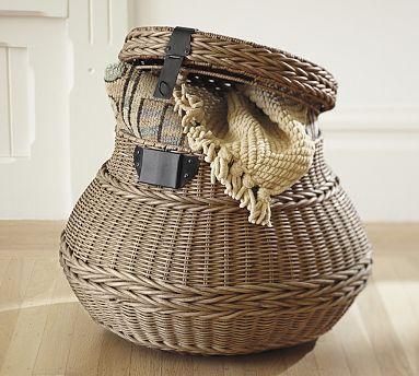 Jacquelyne Lidded Barrel Basket #potterybarn $99 (special $79)
