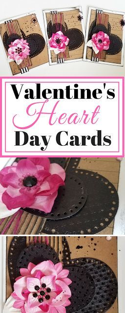 Trio of Mixed Media Valentine's Day Cards