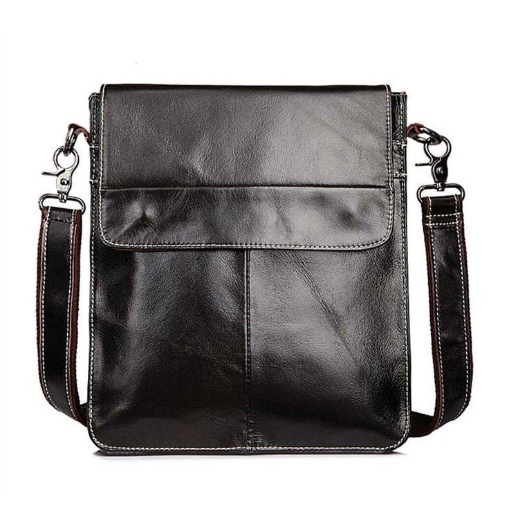 Hot Sale Male Bags 100% Genuine Leather Men Bags Messenger Crossbody Shoulder Bag Men's Casual Travel Bag For Man NB023