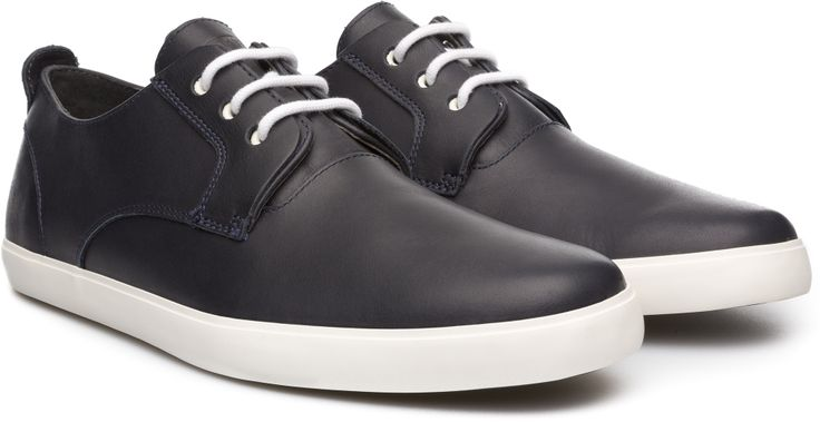 Sporty outsoles give a youthful bounce to this smart sneaker.