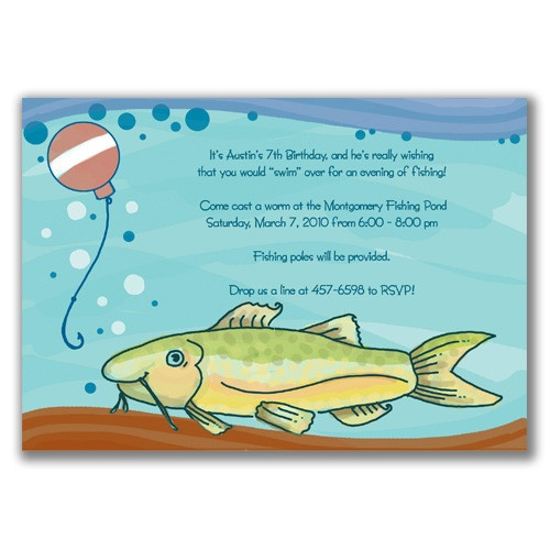 Invitation wording it 39 s a fishing party pinterest for Fishing birthday party invitations