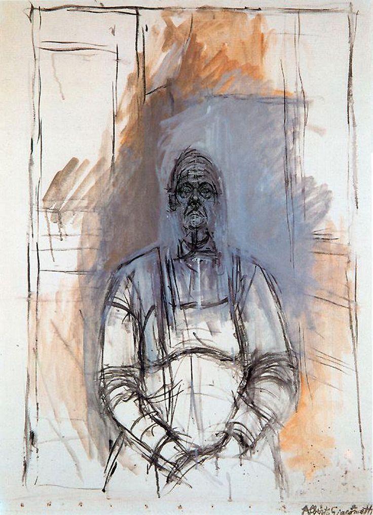 Alberto Giacometti work Called Retrato De Mujer, uses continuous line and…