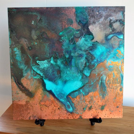 Beautiful Copper artwork with patina design