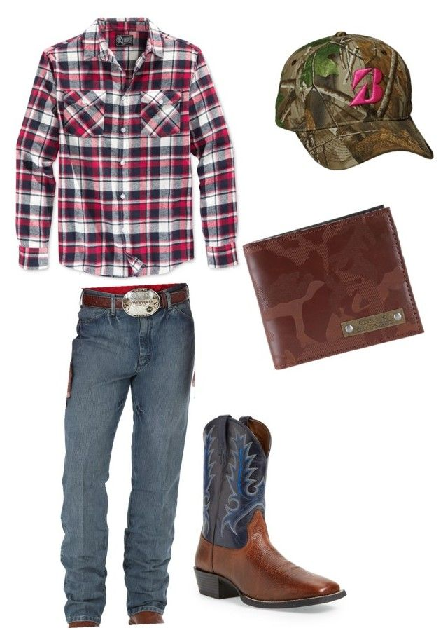 """""""Men Country Wear"""" by stephanie-strong on Polyvore featuring Retrofit, Wrangler, Ariat, Realtree, Diesel, country, men's fashion and menswear"""