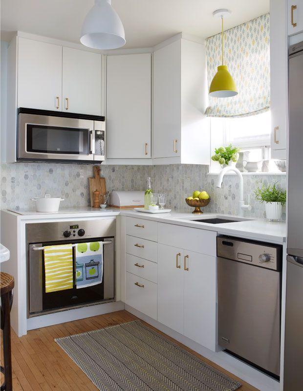 50 Desain Kitchen Set Untuk Dapur Kecil  - Dapur jadi salah satu ruangan tersibuk yang ada di dalam rumah.       Sumber: pinterest.com   ...