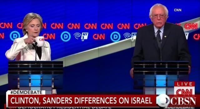Clinton, Sanders, differenze su Israele