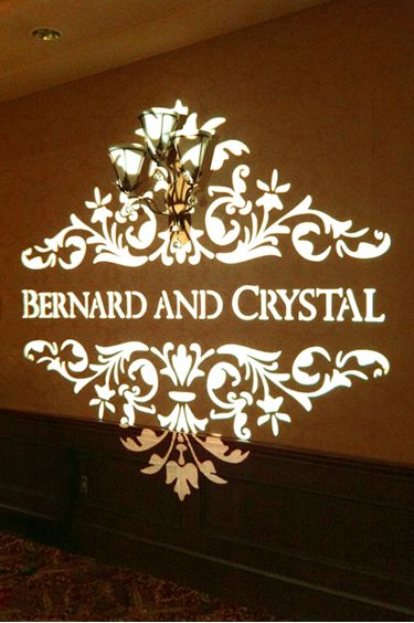add a personalized touch to your wedding or event with a wedding gobo monogram