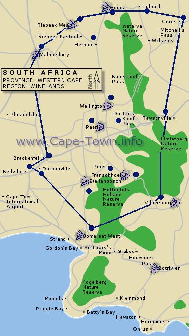 Cape Town, South Africa Wine Route