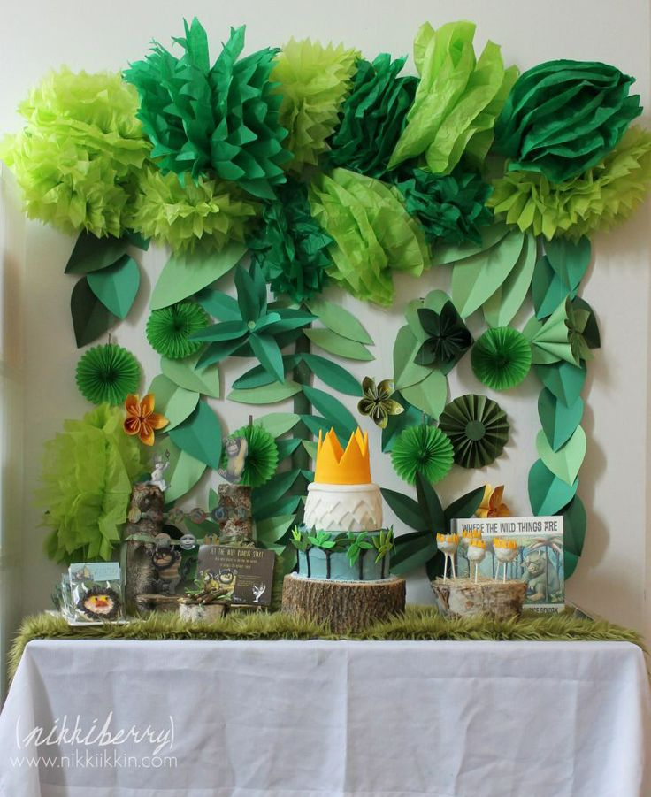 Where The Wild Things Are Party - paper backdrop for photos with the mommy