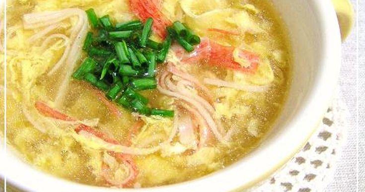 ♥レポ1000人&掲載感謝です♥  玉子がいっぱい入った とろとろふわ~っな  カニ玉風味のスープです♡