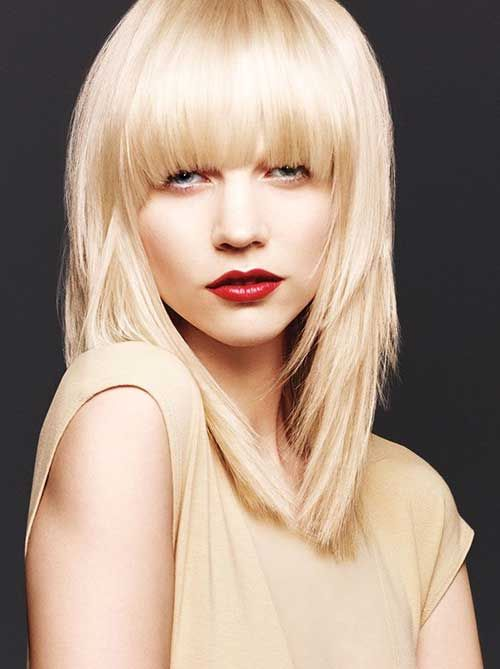 hair styles for of color best 25 lob with bangs ideas on hair 1576