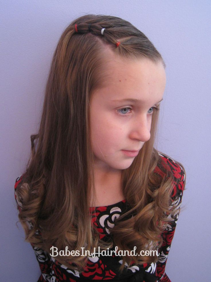 Bang Pull Back | Puffy Braids on the Side -- great if growing out your bangs - or perfect for baby or toddler hair too!