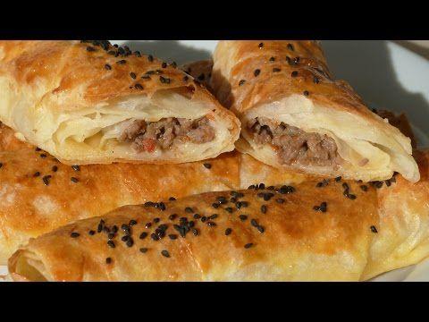 Borek Rolls with Ground Beef – Turkish Spring Rolls Recipe - YouTube