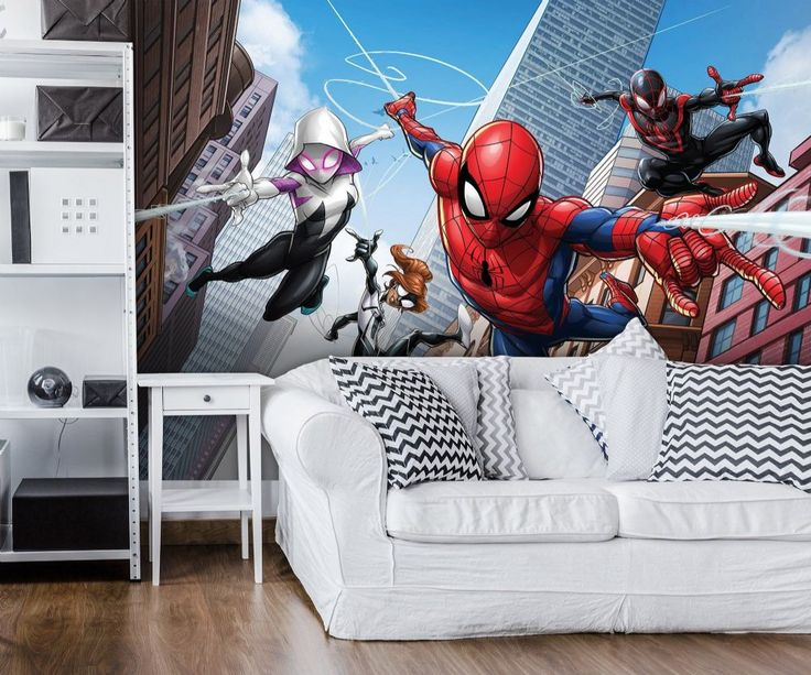 Giant Size Wallpaper Mural For Boyu0027s Bedroom. Spider Man Marvel Wall  Decoration Ideas. Part 54