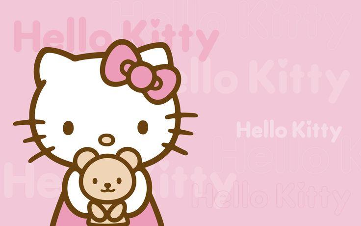 Hello kitty - hello-kitty Wallpaper - So precious! Love the teddy bear!
