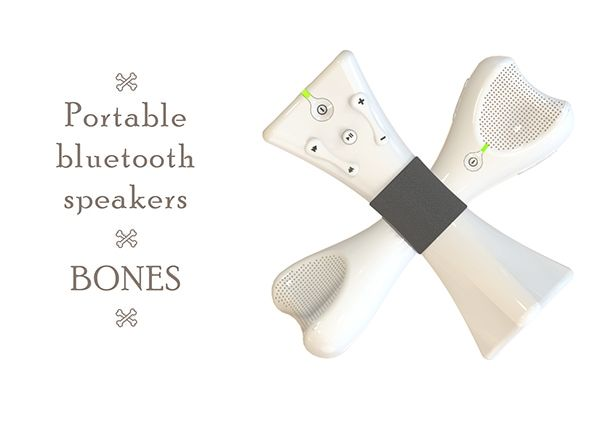 """Bones"" speakers on Behance"