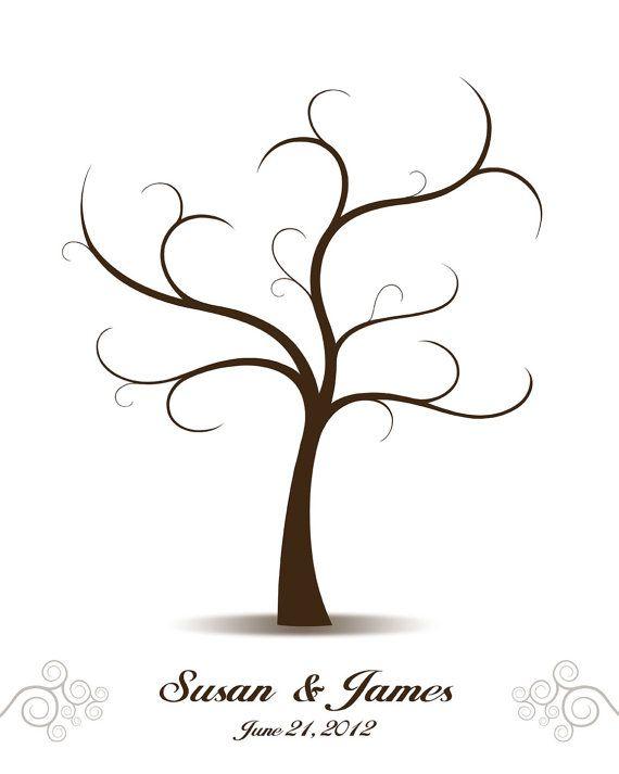 wedding tree guest book love birds guest book alternative fingerprint signature tree custom