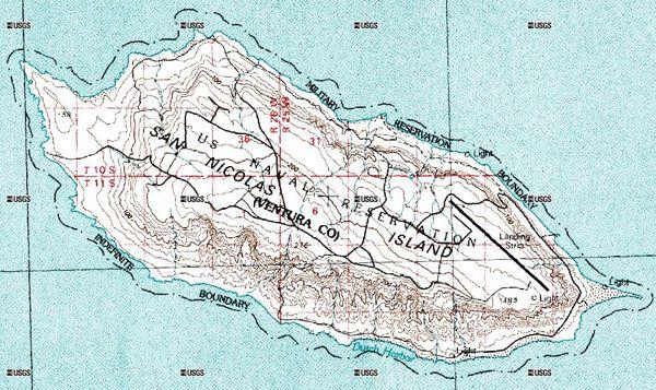 San Nicolas Island Island Of The Blue Dolphins Pinterest - Map of san nicolas island and us