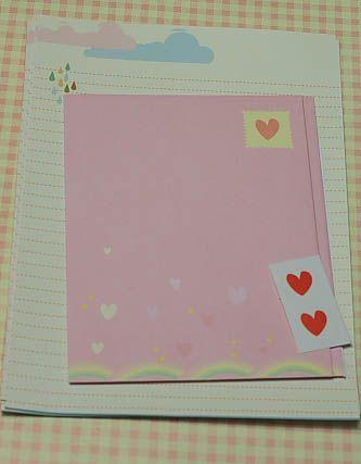 Papierdier - Briefpapier setje - love