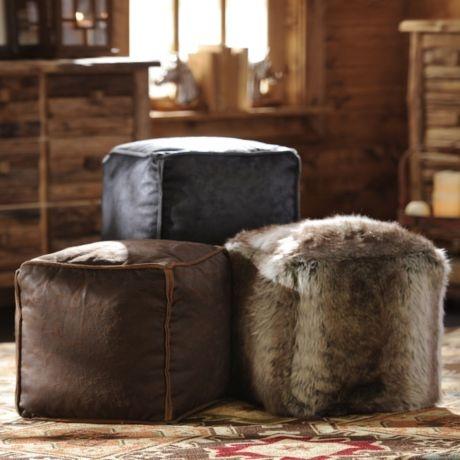 Terrific Product Details Antique Brown Faux Leather Ottoman Home Pabps2019 Chair Design Images Pabps2019Com
