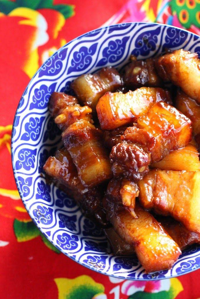 Porc braisé et caramélisé à la chinoise (Hong Shao Rou) - Chinese red braised pork
