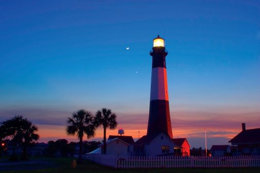 "Tybee Island, Georgia. WHY IT'S INTERESTING: Drive 20 minutes east of Savannah, and you'll find one of the most laid-back vacation spots on the southeastern coast. It's got miles of beach, and the great old lighthouse pictured above.  LIGHT ME UP: Tybee's Light Station was built in 1773 and is Georgia's oldest and tallest lighthouse.  FUN FACT: Tybee means ""salt"" in the old Euchee tongue."