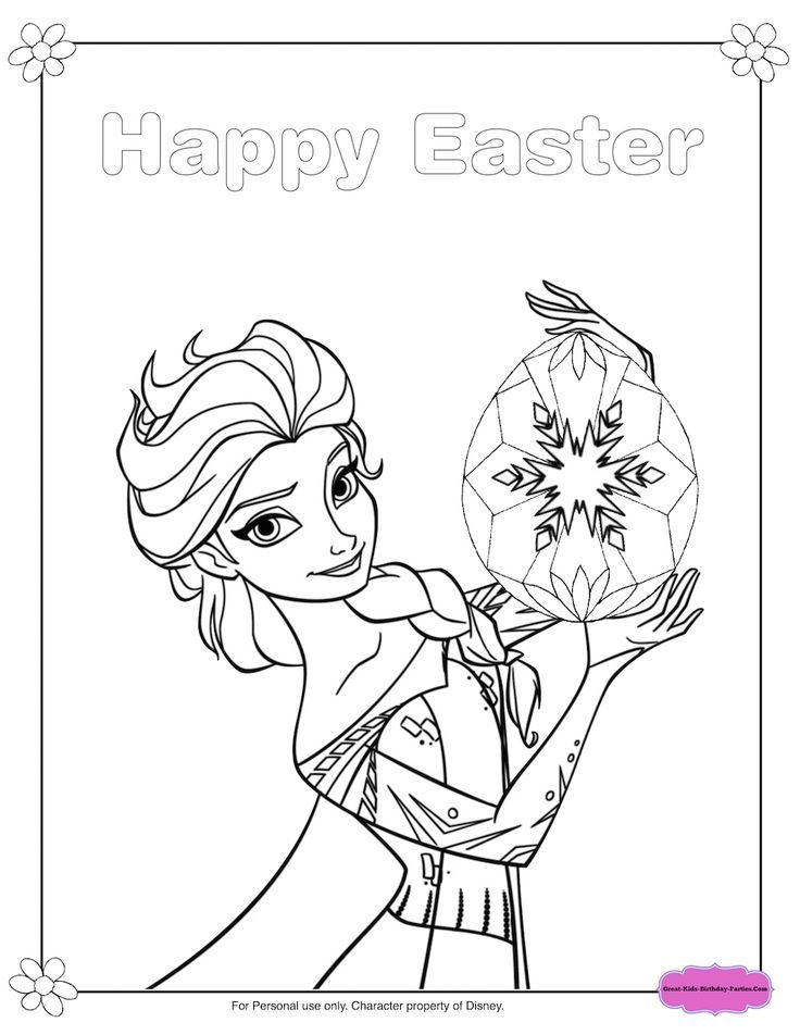 Elsa Easter Coloring elsa easter coloring, elsa easter