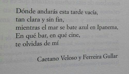 Caetano Veloso para esta tarde nublada que ya trae el  sabor y aroma del otoño...