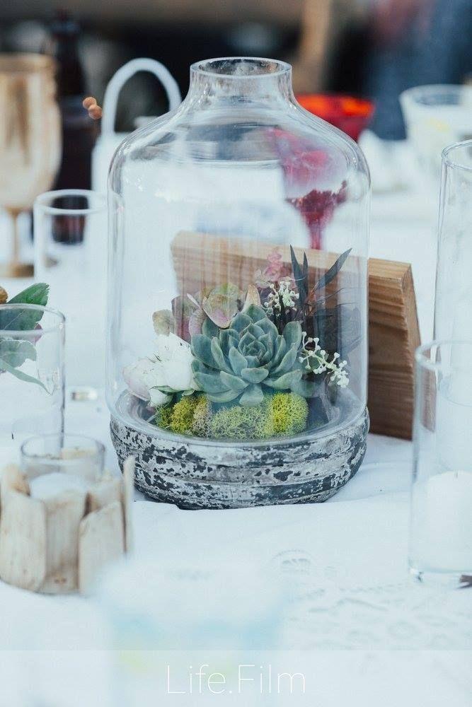 Boho Chic Centerpiece Succulents Terrarium Wedding Design By Dbcreat Succulent Wedding Centerpieces Burgundy Wedding Flowers Diy Succulents Centerpiece