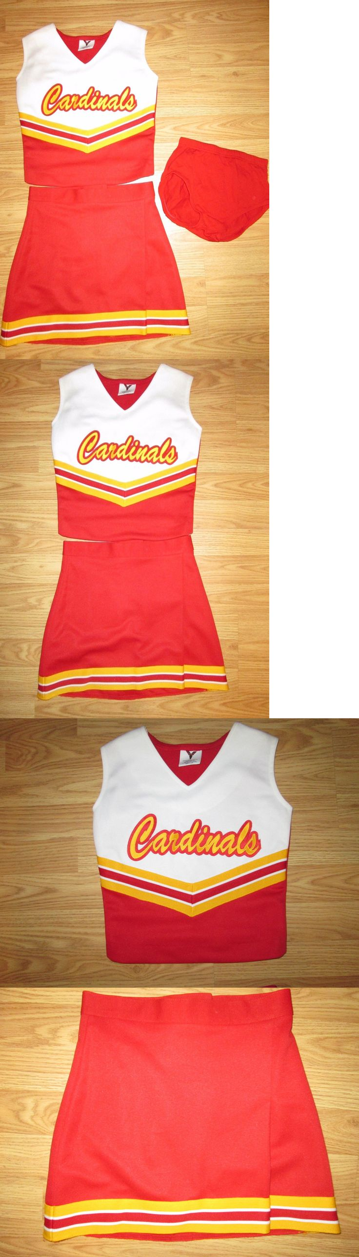 Cheerleading 66832: Cardinals Cheerleader Uniform Outfit Costume + Briefs 30/24 Teen Youth Sized BUY IT NOW ONLY: $36.0