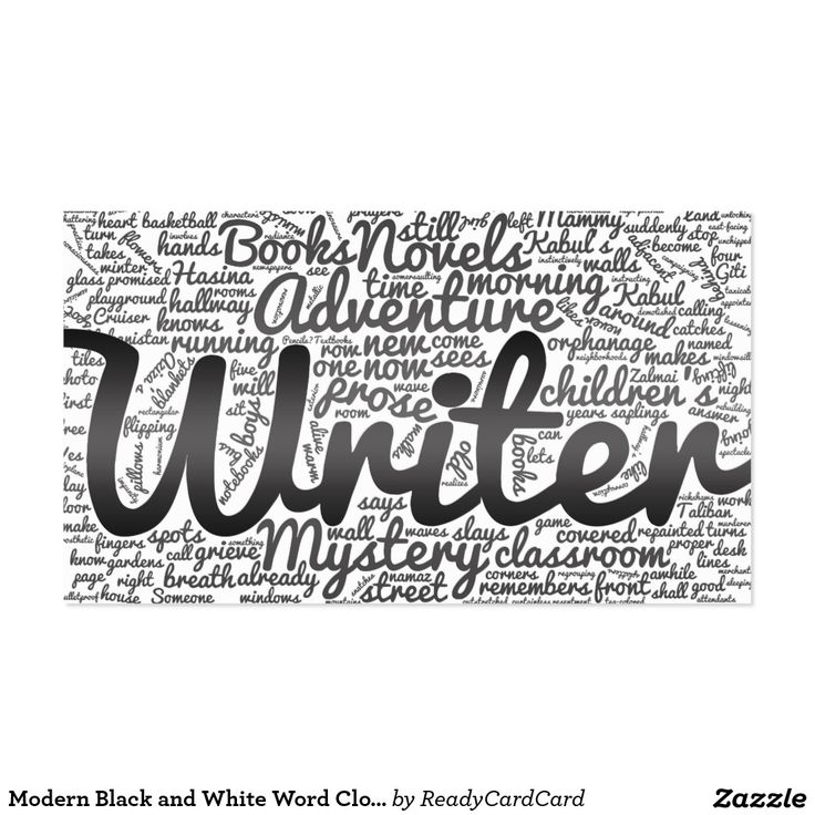 68 best authors and writers business cards images on pinterest modern black and white word cloud writers authors business card reheart Images