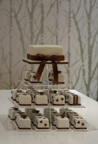 Wedding cake and mini cakes