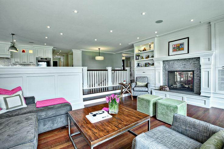 Sunken living rooms step down conversation pits ideas for Living room conversations
