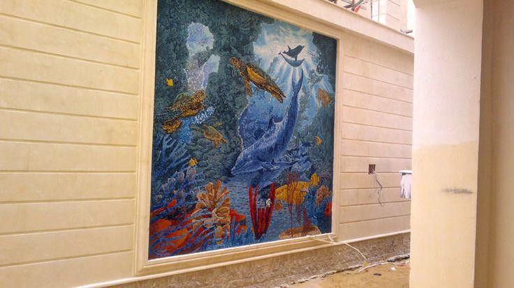 Outdoor wall mosaic