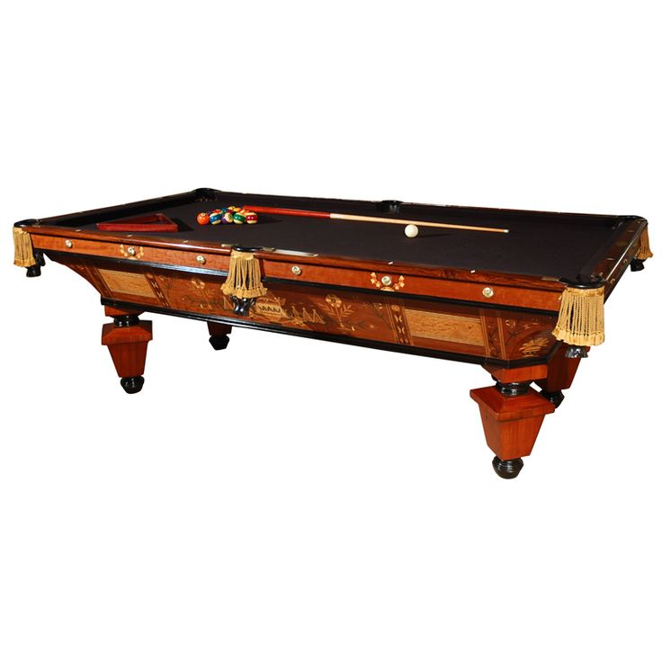 1880's Brunswick Pool Table | From a unique collection of antique and modern game tables at http://www.1stdibs.com/furniture/tables/game-tables/