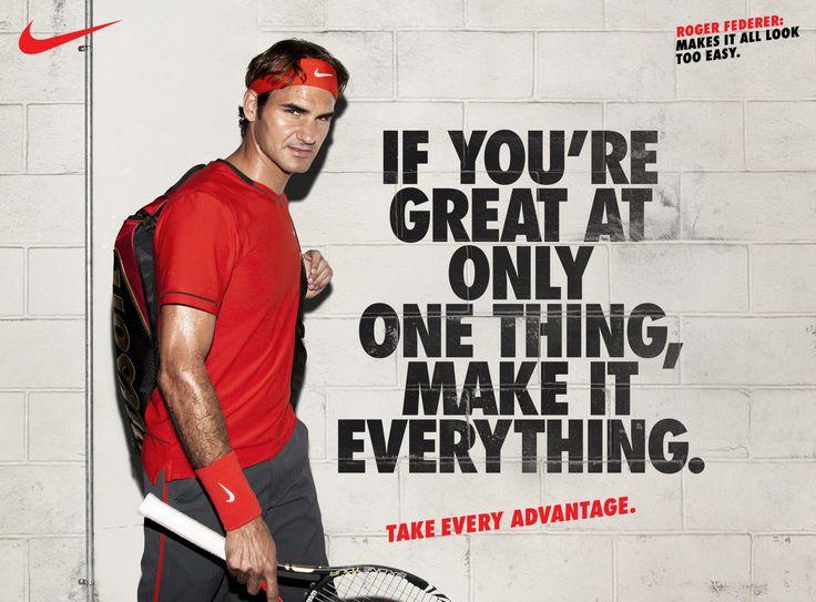 FA11 Nike Tennis campaign | Roger Federer