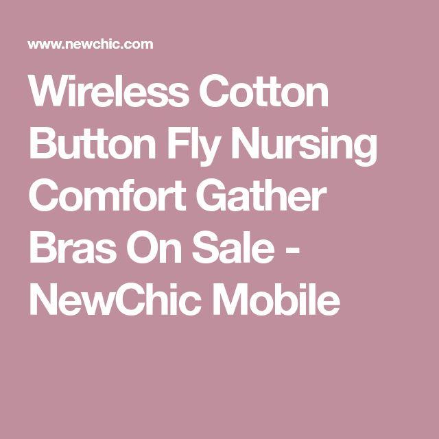 Wireless Cotton Button Fly Nursing Comfort Gather Bras On Sale - NewChic Mobile