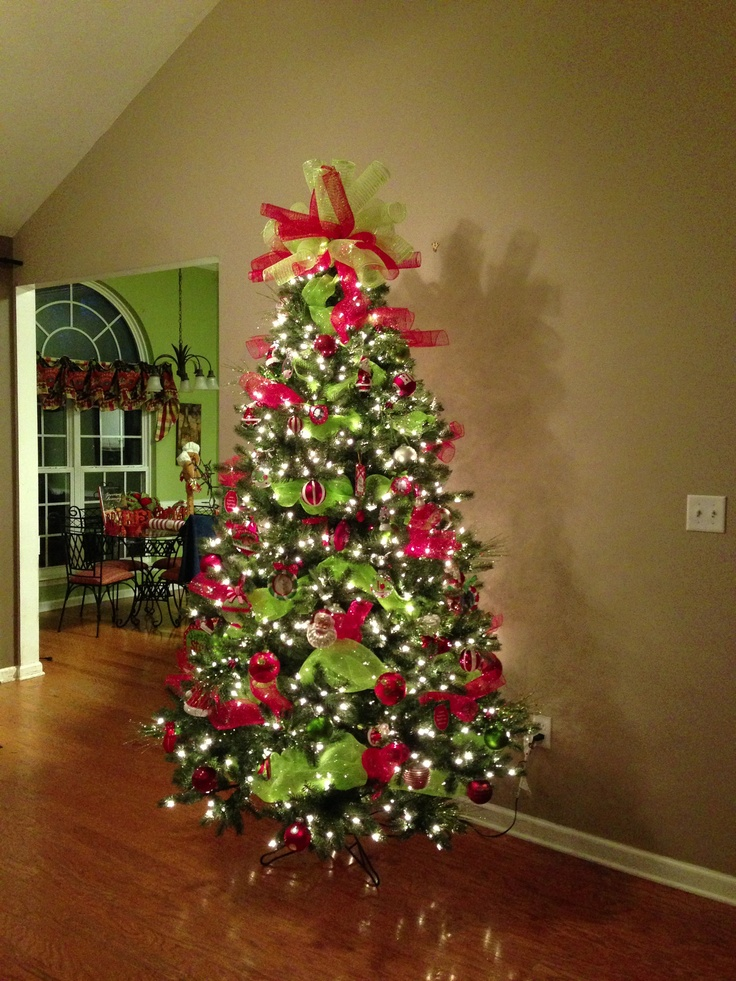 Deco Mesh Christmas Tree Topper Christmas Pinterest