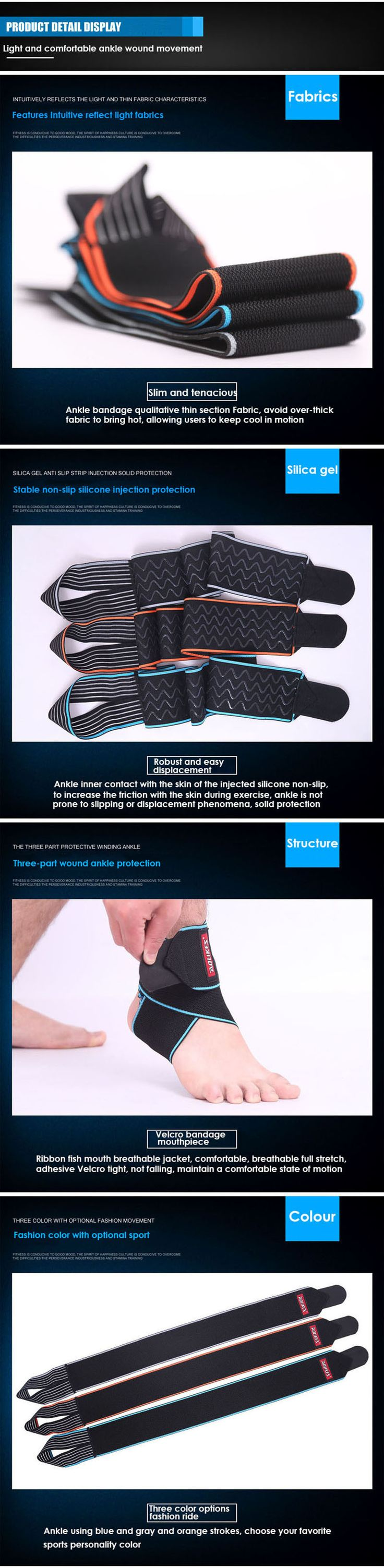 Sport Protector Ankle Brace Protertor Silicon Anti-slip Breathable Foot Pad Sale - Banggood.com