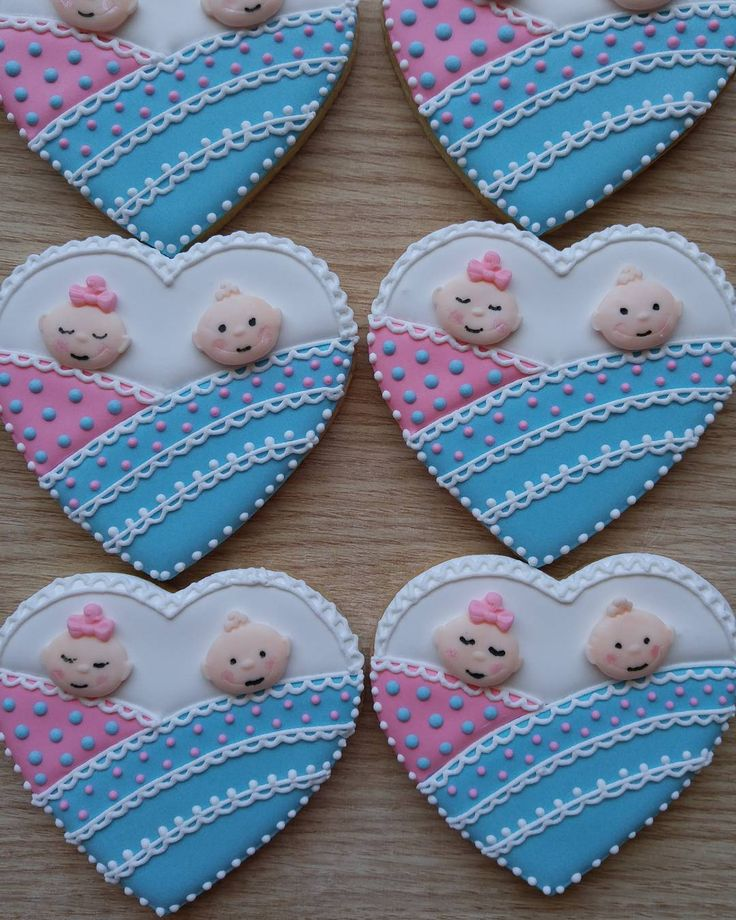 توزيعات مواليد توام Twins Baby Shower Favors Shower Favors Sugar Cookie