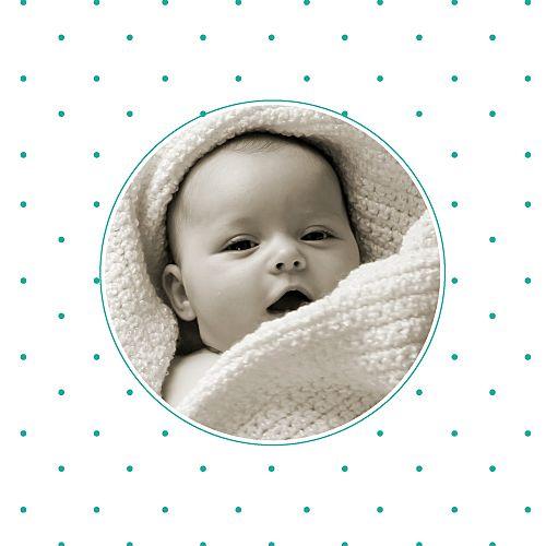 Faire-part de naissance Pistil photo emeraude