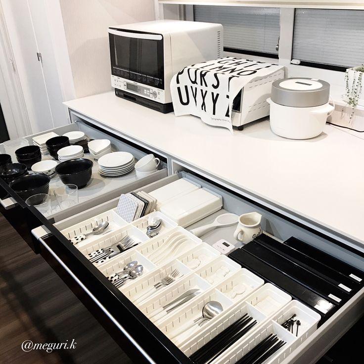 いいね!1,007件、コメント22件 ― @meguri.kのInstagramアカウント: 「キッチンお皿収納見直し‼️ あまり使ってない、高価なお皿。 デザインも好きじゃない…思い切って断捨離しました‼️んー、スッキリ✨ ・ 右側は#カトラリー とラップ類を収納。 ・…」