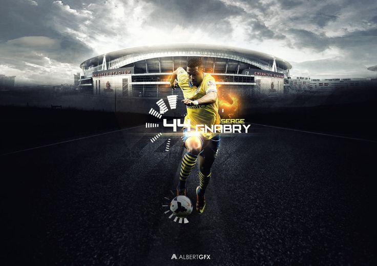 Serge Gnabry by #AlbertGFX #football #wallpaper