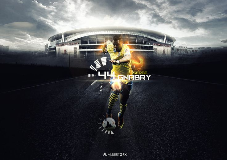 Serge Gnabry by #AlbertGFX #football #wallpaper