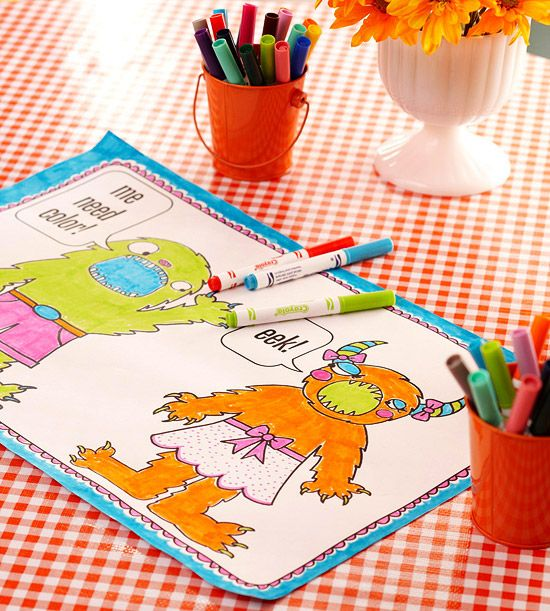 Kids will love these cute monster coloring sheets! Download them for free here: http://www.bhg.com/halloween/crafts/free-halloween-printables-projects/#page=16