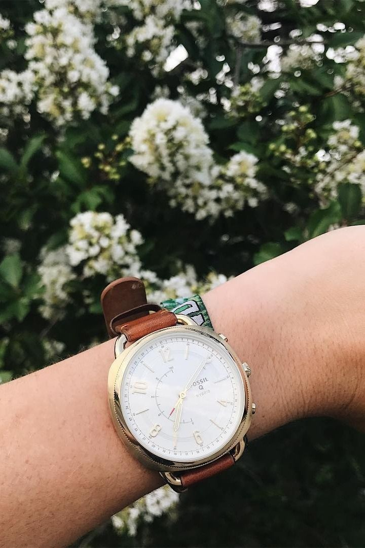 12e488a22c5 Hybrid Smartwatch - Accomplice Luggage Leather | Fossil Smartwatches |  Watches, Smart watch, Leather luggage